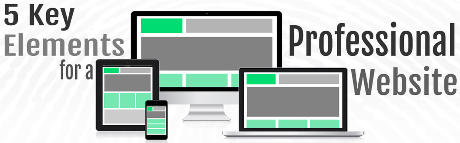 5 key elements for a professional website